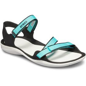 Crocs Swiftwater Sandalias de Tiras Mujer, pool/white
